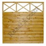 Gard din lemn SOLID DREPT