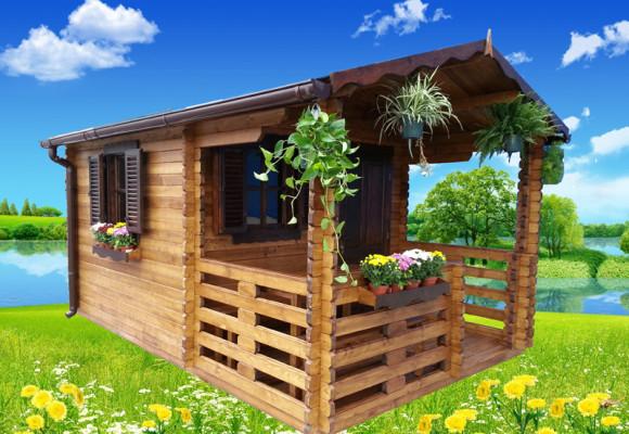 Casuta lemn pentru gradina BRAN