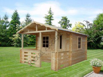 Casuta lemn pentru gradina BM cu terasa