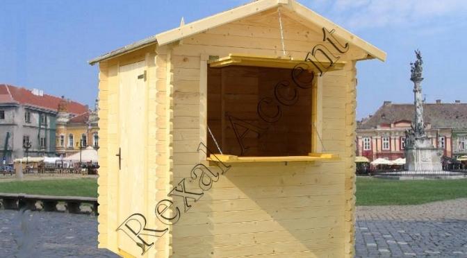 Chiosc comercial din lemn chertat 1.95 m x 1.95 m / 19 mm
