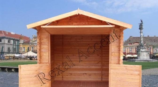 Chiosc comercial din lemn chertat 2.50 m x 2.00 m / 19 mm