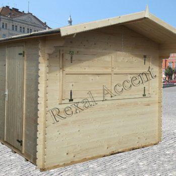 Chiosc comercial din lemn chertat 2.80 m x 2.50 m /19 mm