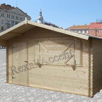 Chiosc comercial din lemn chertat 4.00x2.50 m-28mm