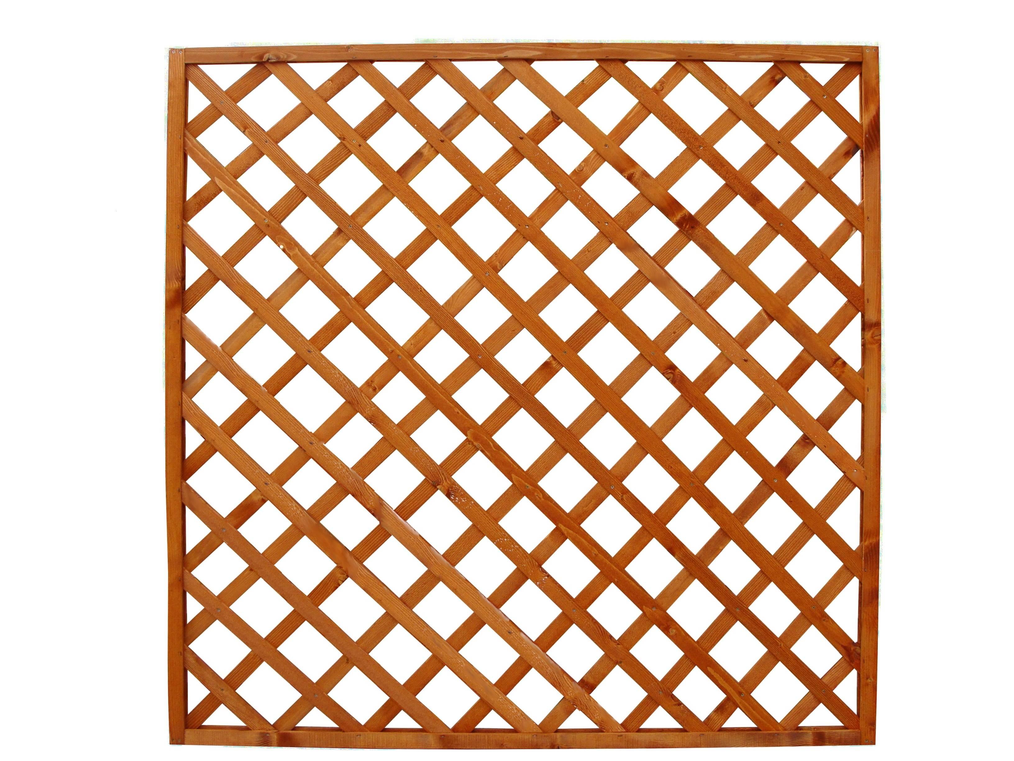 Gard din lemn tip PLASA PATRAT