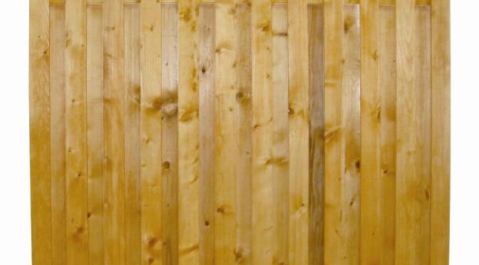 Gard solid din lemn RUSTIC