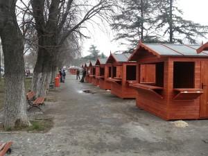 Chioscuri comerciale din lemn in panouri