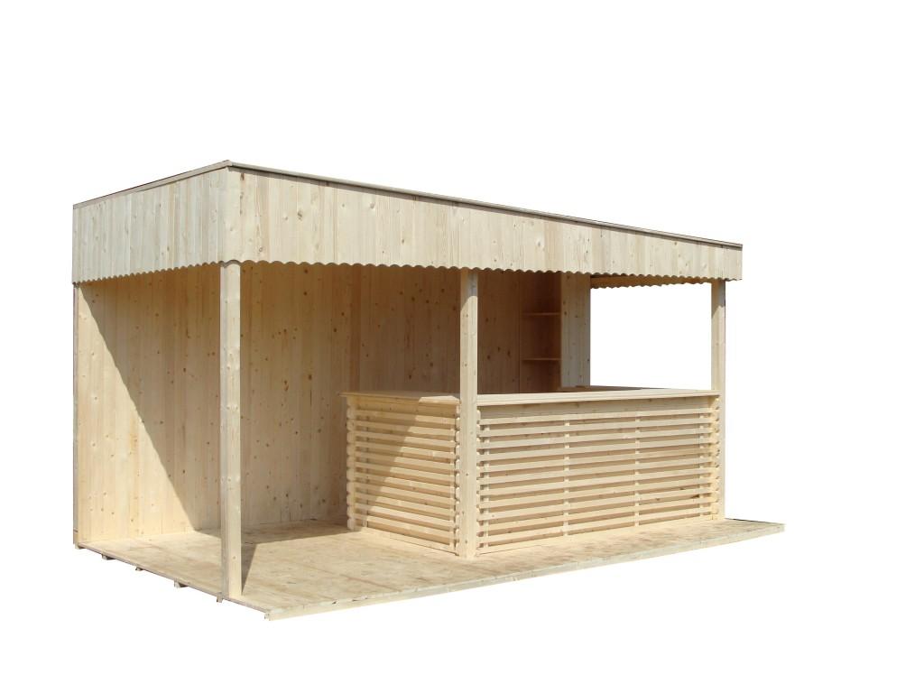 bar terasa din lemn